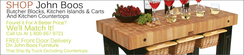 John Boos Butcher Blocks, Kitchen Islands And Kitchen Carts