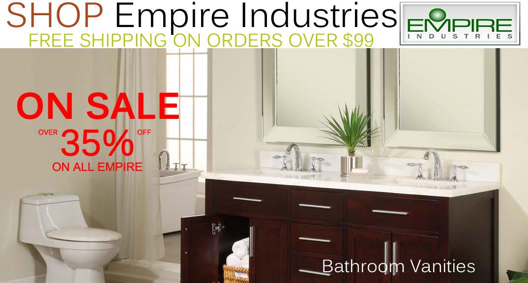 Empire Industries Bathroom Vanities on KitchenSource.com