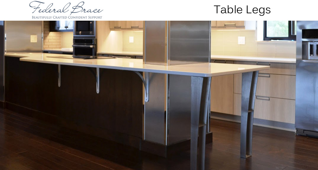 Federal Brace Table Legs at KitchenSource.com