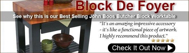 John Boos American Cherry Block De Foyer Butcher Block Island