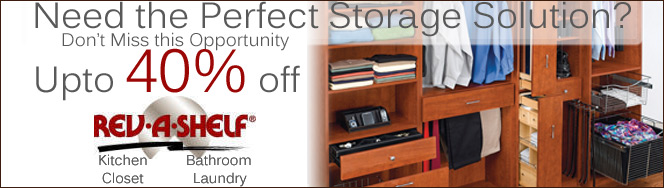 Rev-A-Shelf Closet Organizers, On Sale!
