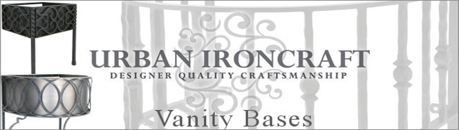 Vanity Support Bases by Urban Ironcraft