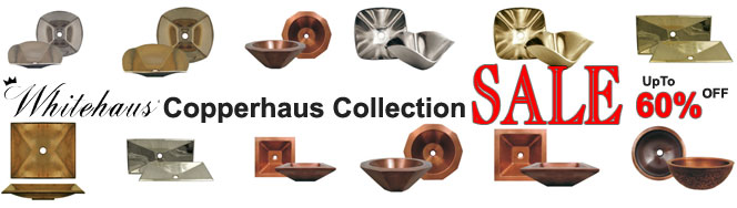 Whitehaus Copperhaus Collection Bathroom Sinks On Sale