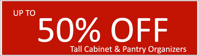 Today's Deals, Tall Cabinet Organizers On Sale Now!