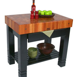 Butcher Block Carts, Islands and Worktables