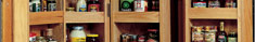 pantry pull-outs and organization