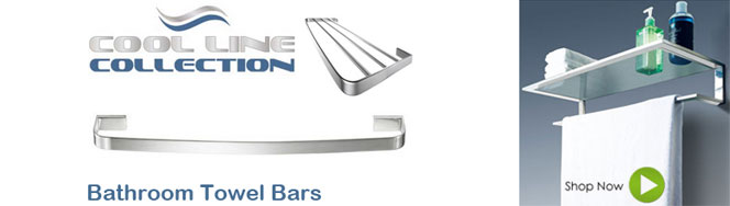 Cool Lines Bathroom Towel Bars