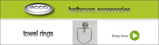 Ecco Bathroom Towel Rings