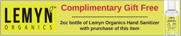 Complimentary Gift Free 2oz bottle of Lemyn Organics Hand Sanitizer