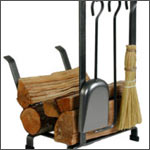 Fireplace Accessories: Fireplace Screens and fire log caddies, Steel Fireplace Accessories and Toolsets