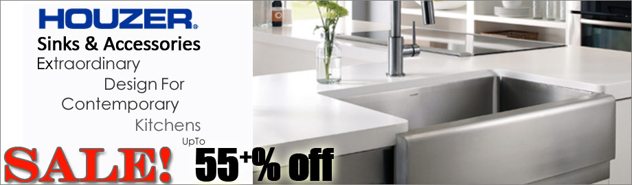 Houzer Kitchen and Bathroom Sinks on Sale