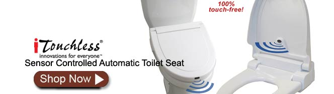 iTouchless Hands Free Automatic Toilet Seat