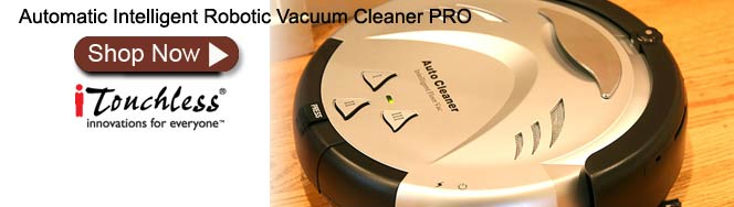 iTouchless Intelligent Robotic Vacuum Cleaner PRO