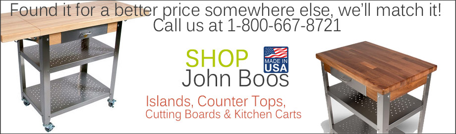 John Boos Kitchen Islands and Counter Tops