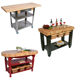 John Boos Butcher Blocks Kitchen Islands Carts