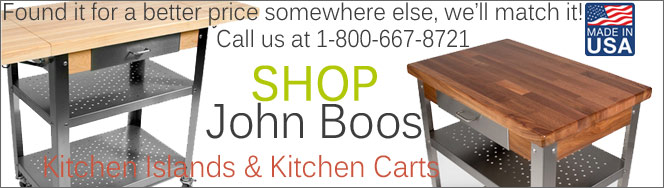 John Boos Kitchen Islands and Kitchen Carts