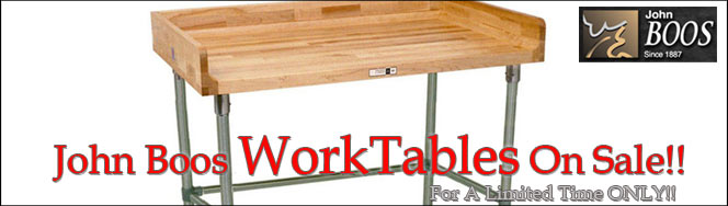 John Boos Work Tables On Sale