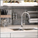 Backsplash Accessories: Backsplash Accessories & Rail Systems - by Blanco, Feeny, Hafele, Eezifit, Rev-A-Shelf & Compagnucci