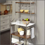 Baker's Racks: Wrought Iron, Silver, Copper, Marble and more - by Old Dutch, Grace and Powell