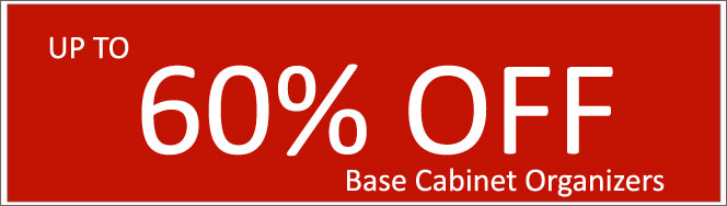 Today's Deals, Base Cabinet Organizers On Sale Now!